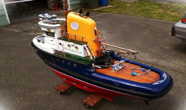 "Model Tugboat ""7 Tracing Plans"" on a CD Large Scale RC 65"" RC Tug ""How ..."