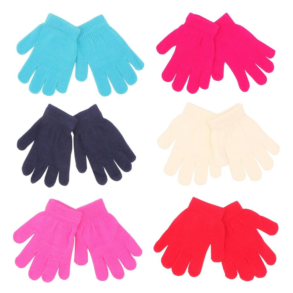 12 pairs x Kids Winter Warm Magic Gloves WHOLESALE JOB LOT ...