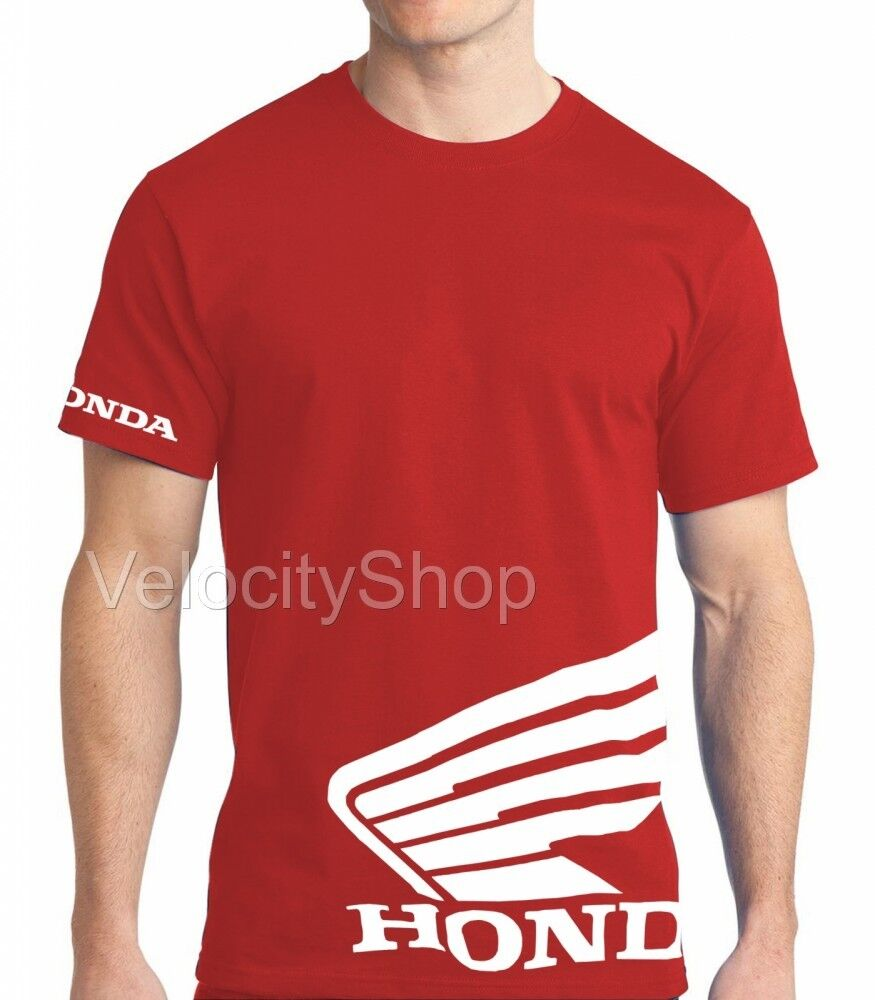 honda wing t shirt red motorcycle racing hrc crf 250 450. Black Bedroom Furniture Sets. Home Design Ideas