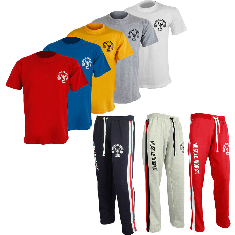 Mens Muscle Works Gym London Clothing Gym T-shirts Vest ...