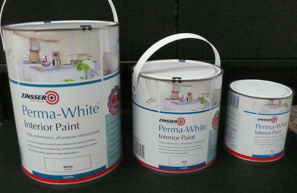 ZINSSER PERMA-WHITE INT. SATIN. 1 LTR, 2.5 LTR, 5 LTR ANTI ...