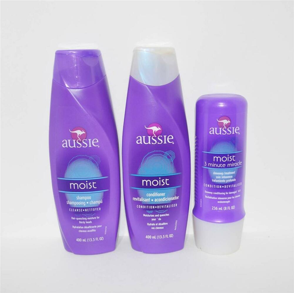 Aussie Moist Shampoo Conditioner Amp 3 Minute Miracle Deep