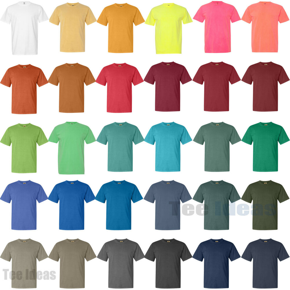 comfort colors pigment dyed short sleeve 100 cotton t