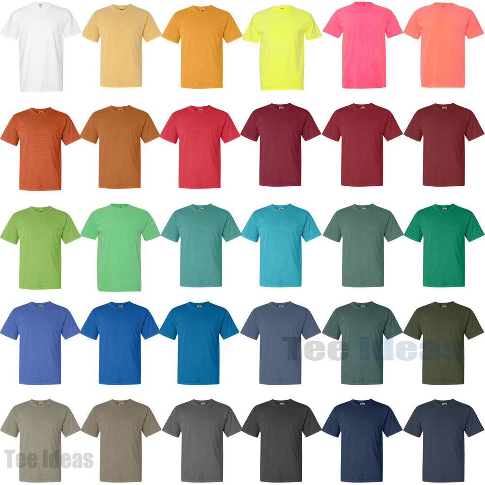 Comfort colors pigment dyed short sleeve 100 cotton t for One color t shirt
