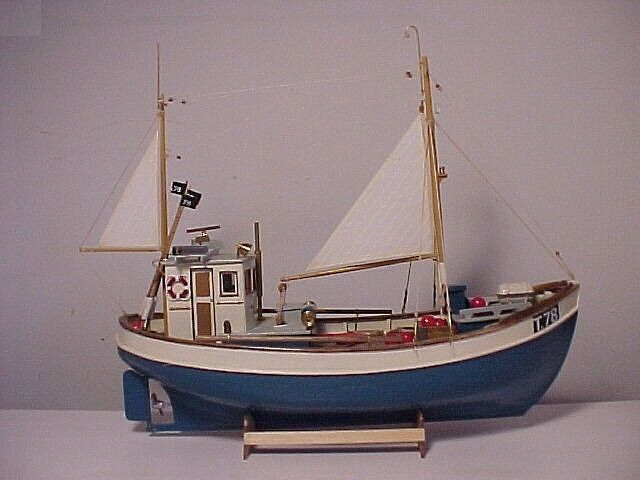 Norden cutter rc model fishing boat plans laser for Rc fishing boat