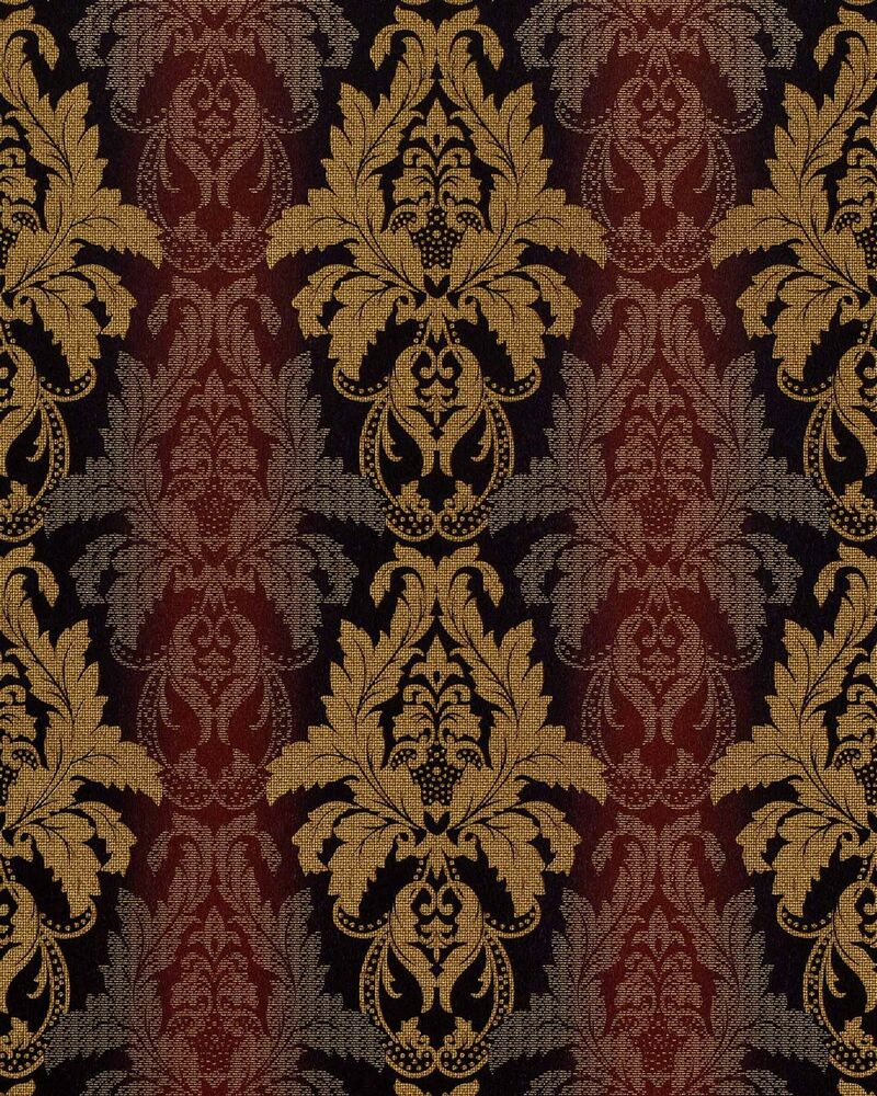 brown damask stripe wallpaper red - photo #47