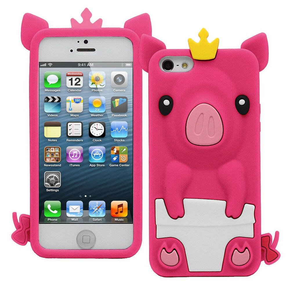 cute iphone 5c cases princess pig crown animal cover protective 13931