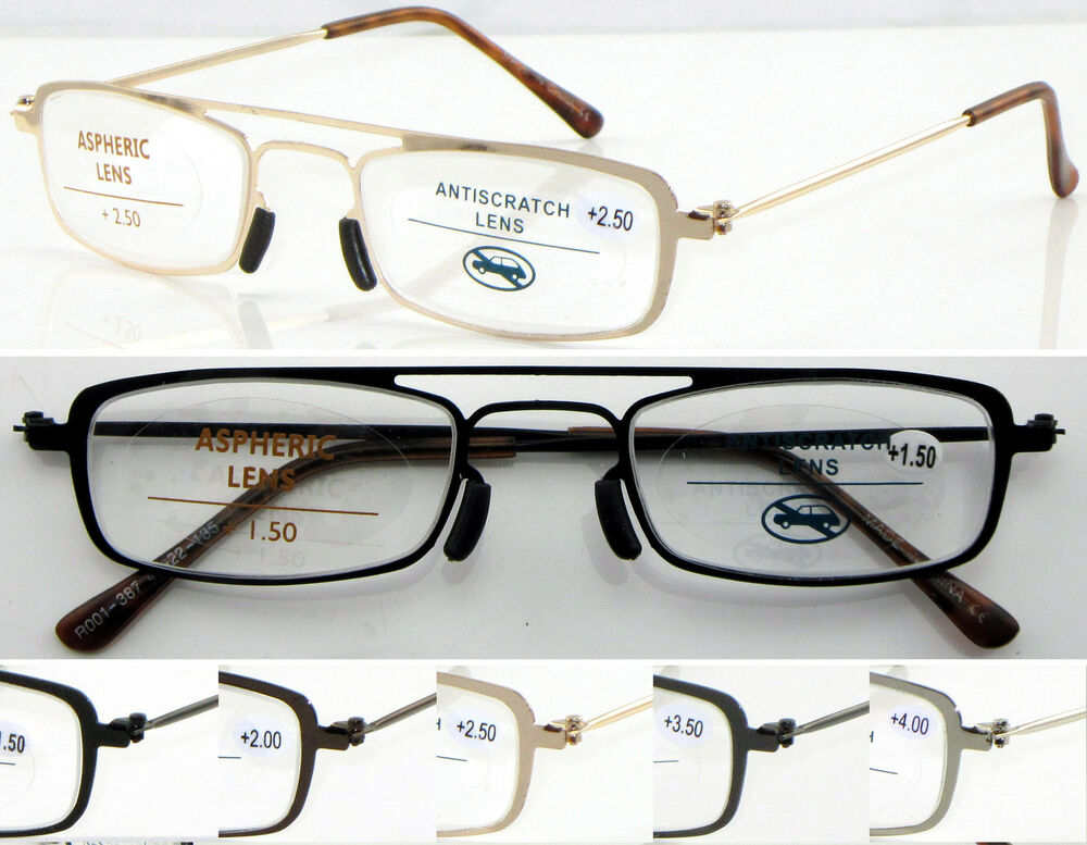 Reading Glasses No Frame : L387 Reading Glasses/Double Bridge & NO WELDING Steel ...