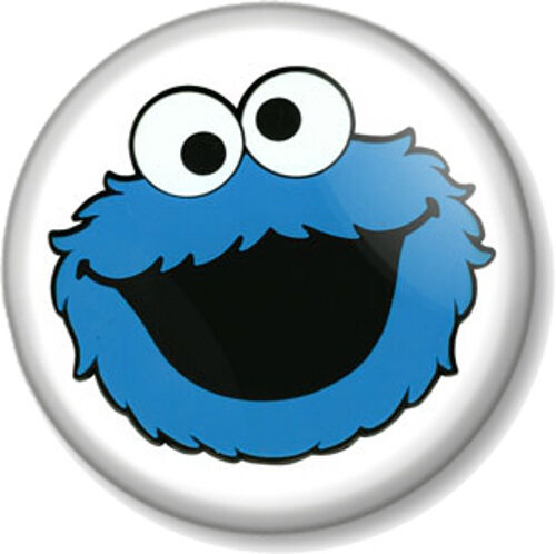 "Pin On Cookie Monster: Cookie Monster 25mm 1"" Pin Button Badge Sesame Street"