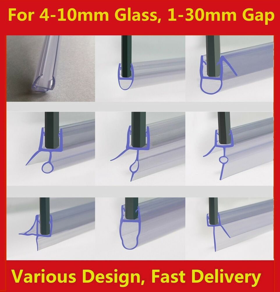 Rubber Plastic Shower Screen Seal Strip For 4-10mm Curved