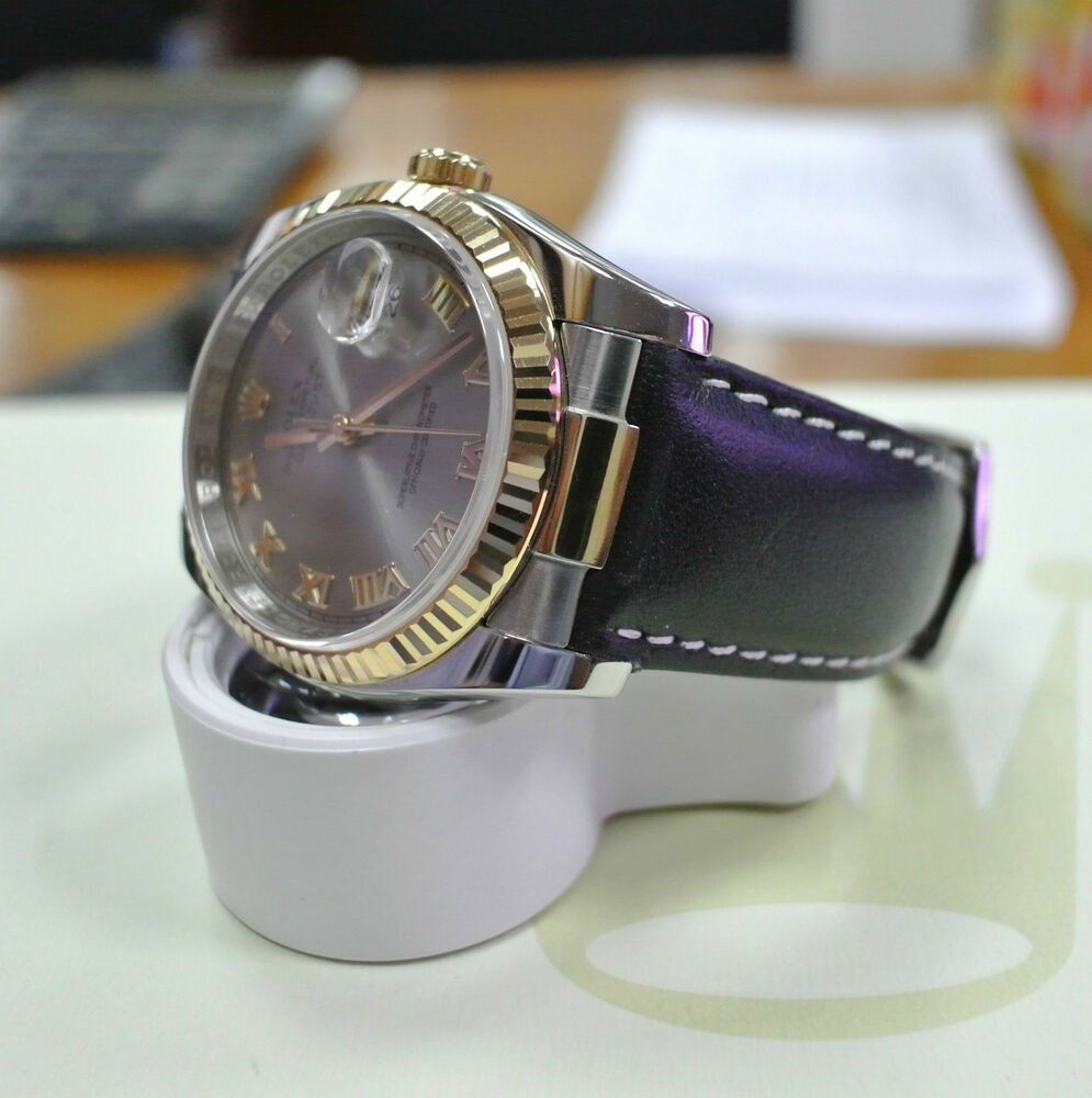 CUSTOM LEATHER STRAP END LINK FOR ROLEX DATEJUST 116233 ...