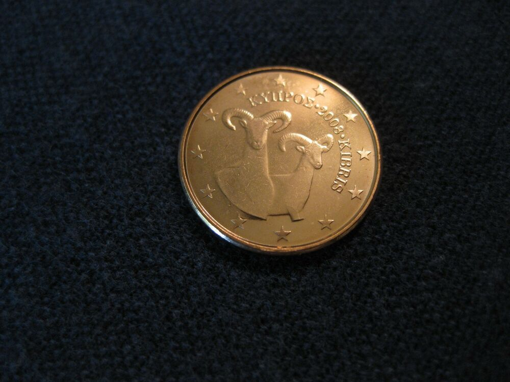 2008 cyprus coin 1 euro cent uncirculated mouflons euro sheep or goat ebay. Black Bedroom Furniture Sets. Home Design Ideas