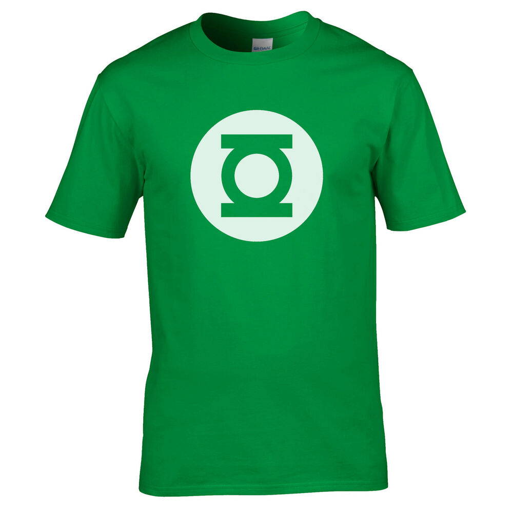 green lantern mens big bang theory tshirt sheldon cooper. Black Bedroom Furniture Sets. Home Design Ideas