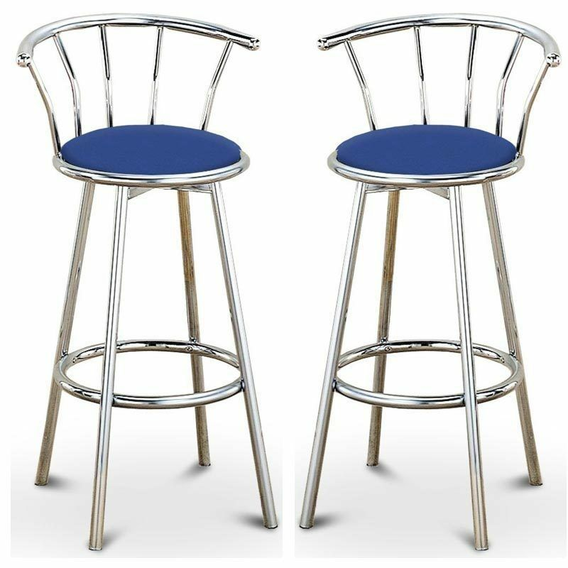 Retro Leather Bar Stools