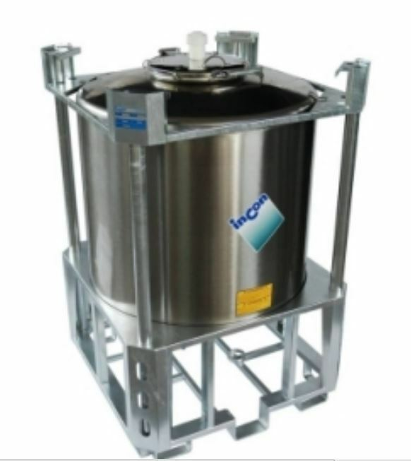 1000 litre stainless steel ibc tank for dangerous goods powders high viscosity ebay. Black Bedroom Furniture Sets. Home Design Ideas