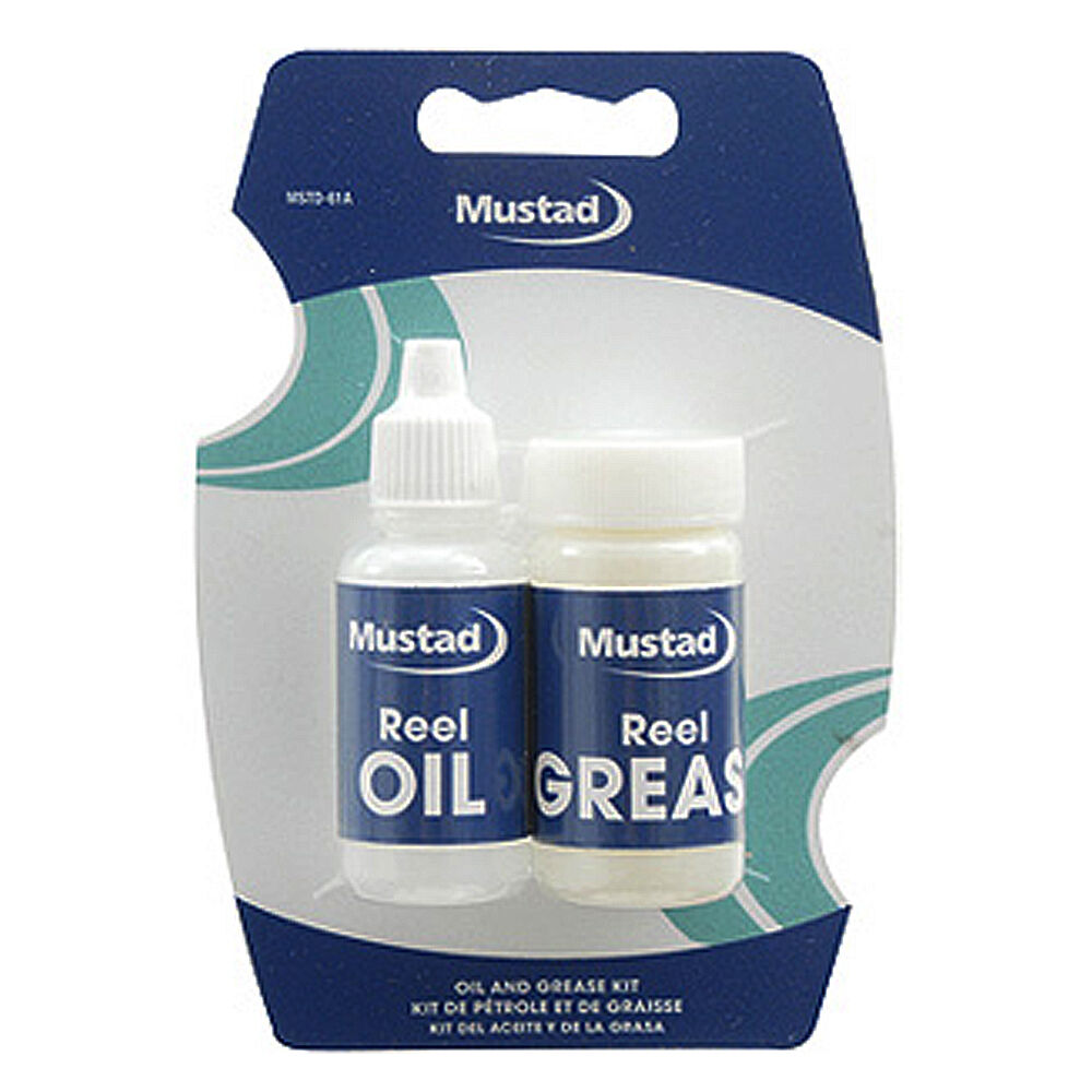 New mustad fishing reel oil and grease kit set mstd 61a ebay for Fishing reel grease