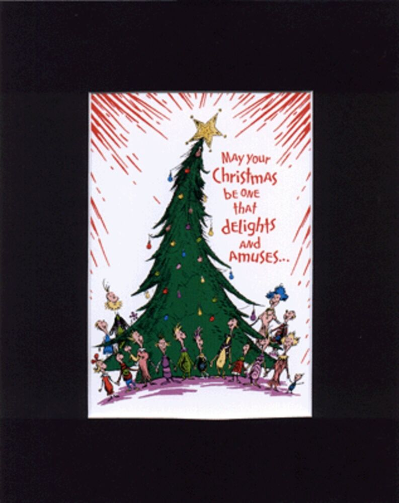 Mr grinch whoville folks delight mat print singing around for Around the tree