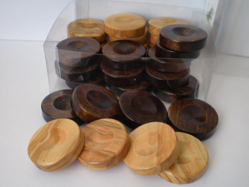 Small quot olive wood chips backgammon checkers from