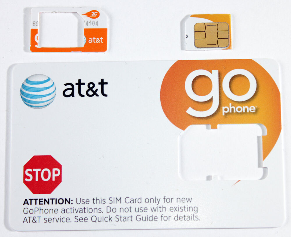 at t prepaid go phone 3g micro sim card ready activate sku 72287 iphone 4 4s ebay. Black Bedroom Furniture Sets. Home Design Ideas