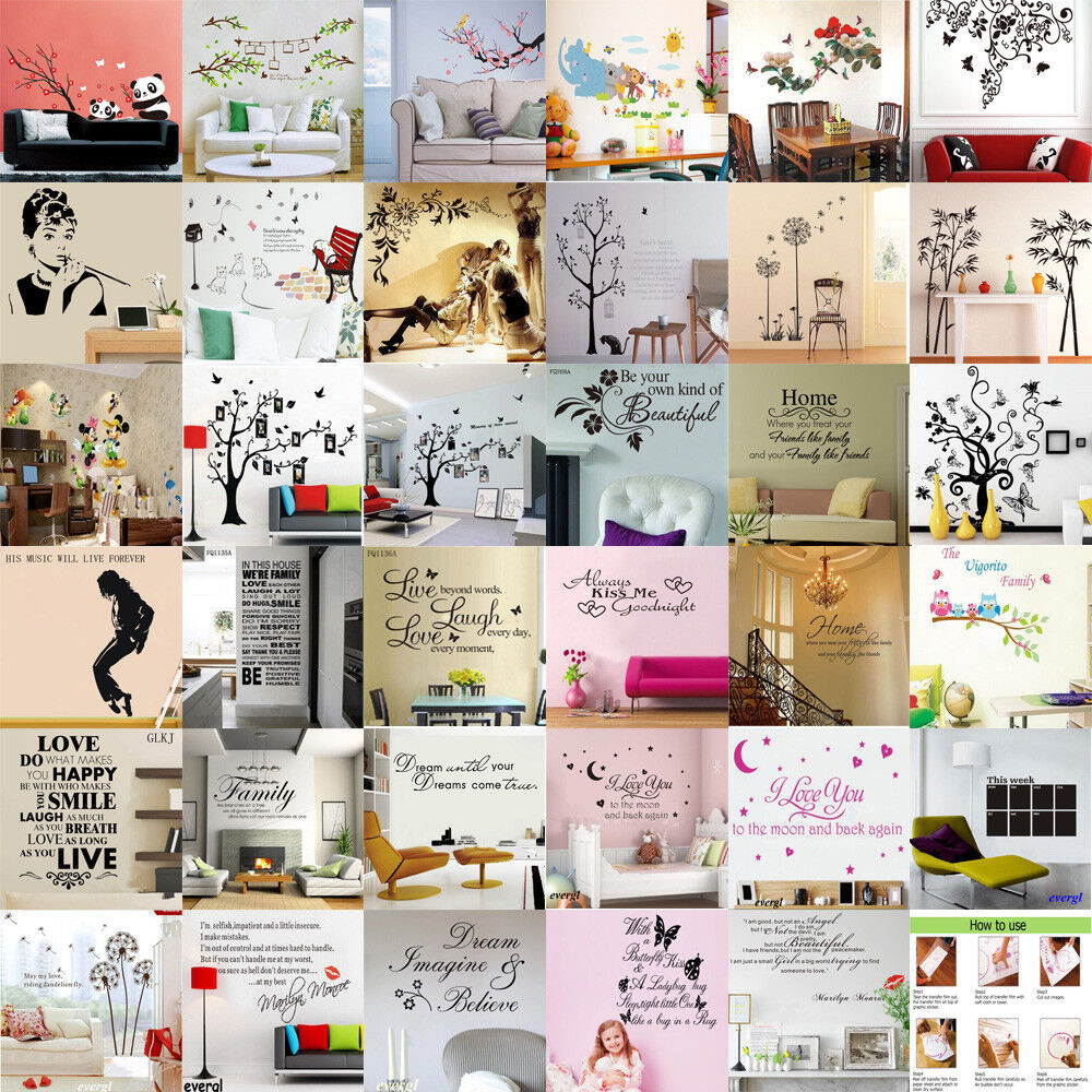 Hot sale diy removable art vinyl quote wall sticker decal for Diy photo wall mural