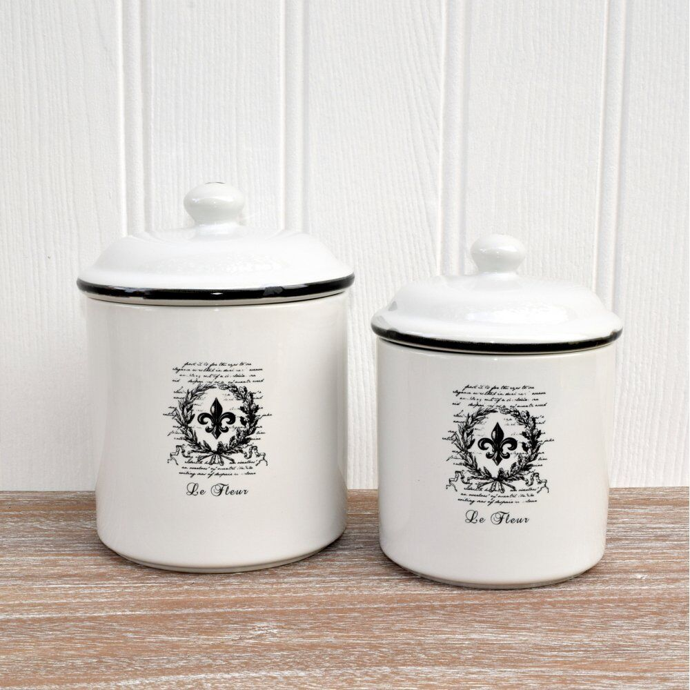 ceramic kitchen storage containers chic white ceramic storage jars vintage style 5184