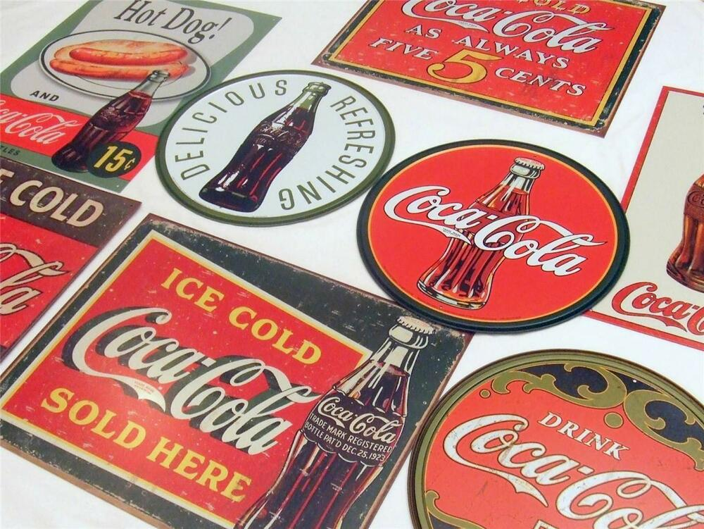 18 sign big bulk lot retro coca cola large coke tin sign for Home decor online shopping usa