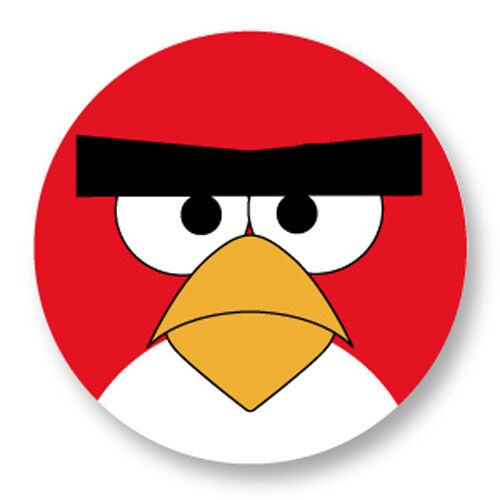 Pin button badge 38mm angry birds oiseau rouge red bird jeux iphone ebay - Angry birds rouge ...