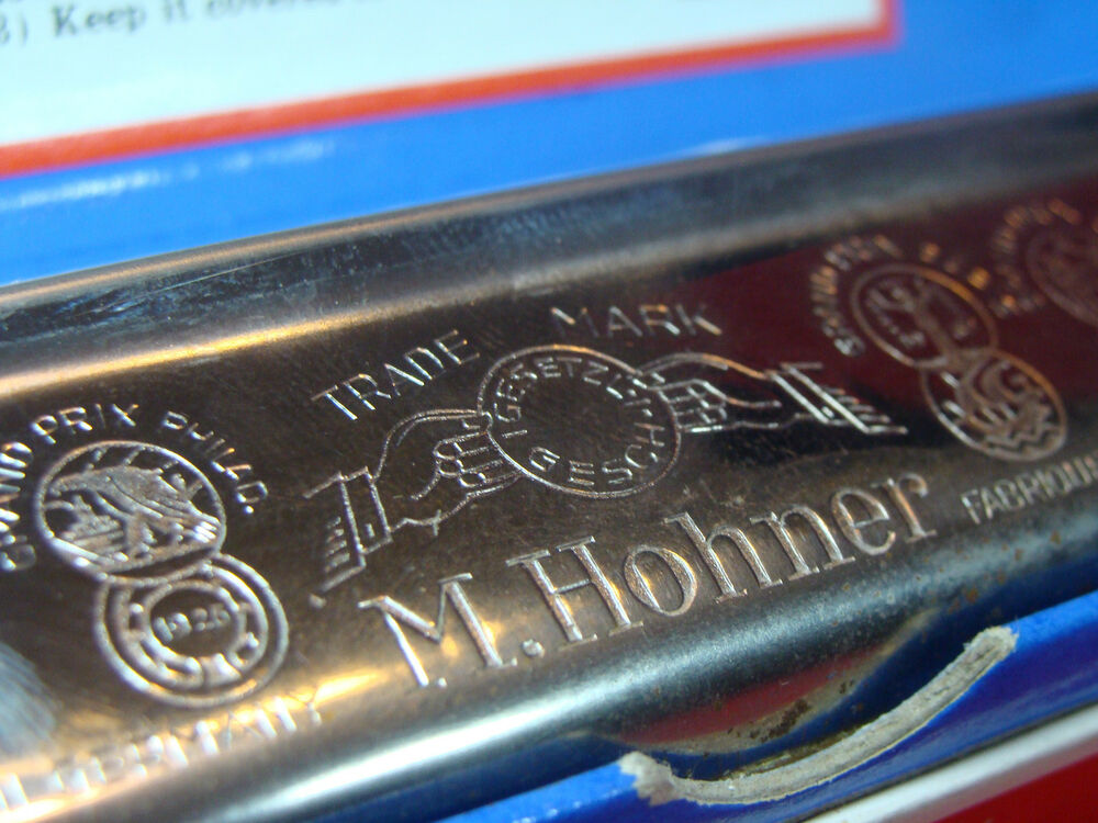 VINTAGE HARMONICA MARINE BAND MADE BY HOHNER GERMANY No ... Woodwind Band Instruments