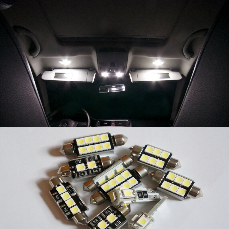7 pcs white led smd canbus interior lights kit for opel corsa d opc ebay. Black Bedroom Furniture Sets. Home Design Ideas