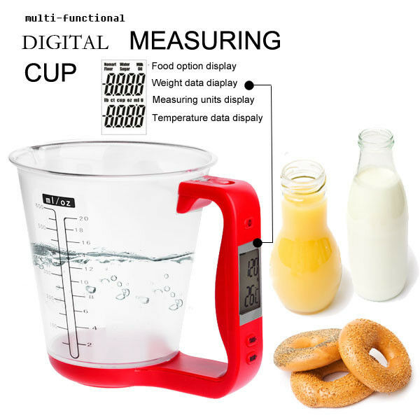 Electronic Measuring Cup : All in one digital measuring cup scale w lcd display