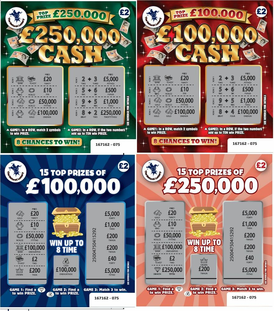 fake winning scratch cards