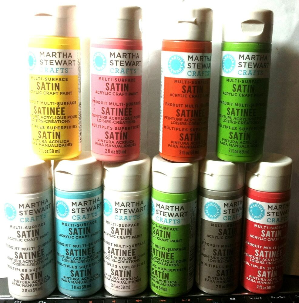 martha stewart satin acrylic craft paint sponging