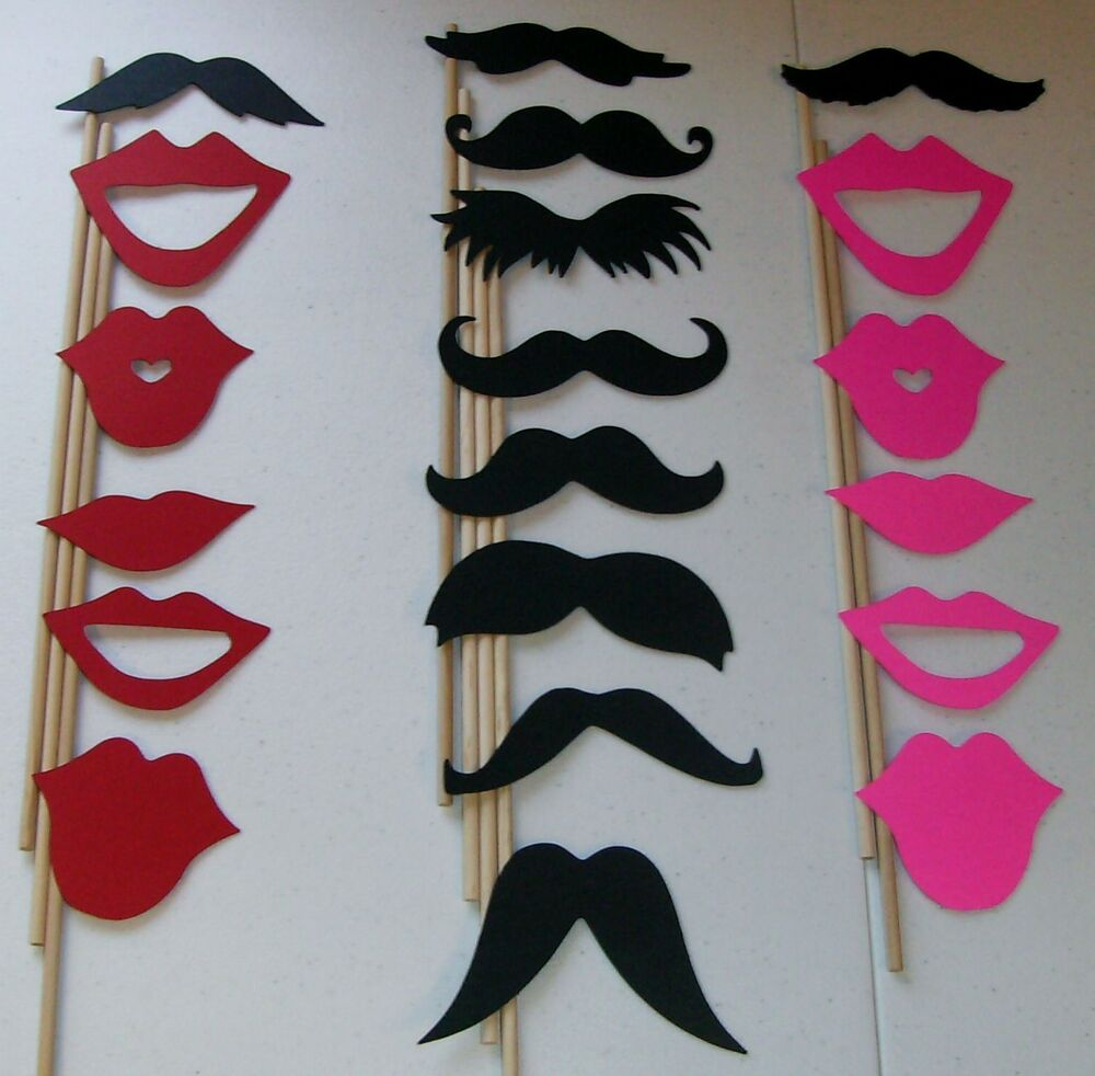 DIY-20 Photo Booth Props Mustache On A Stick Weddings