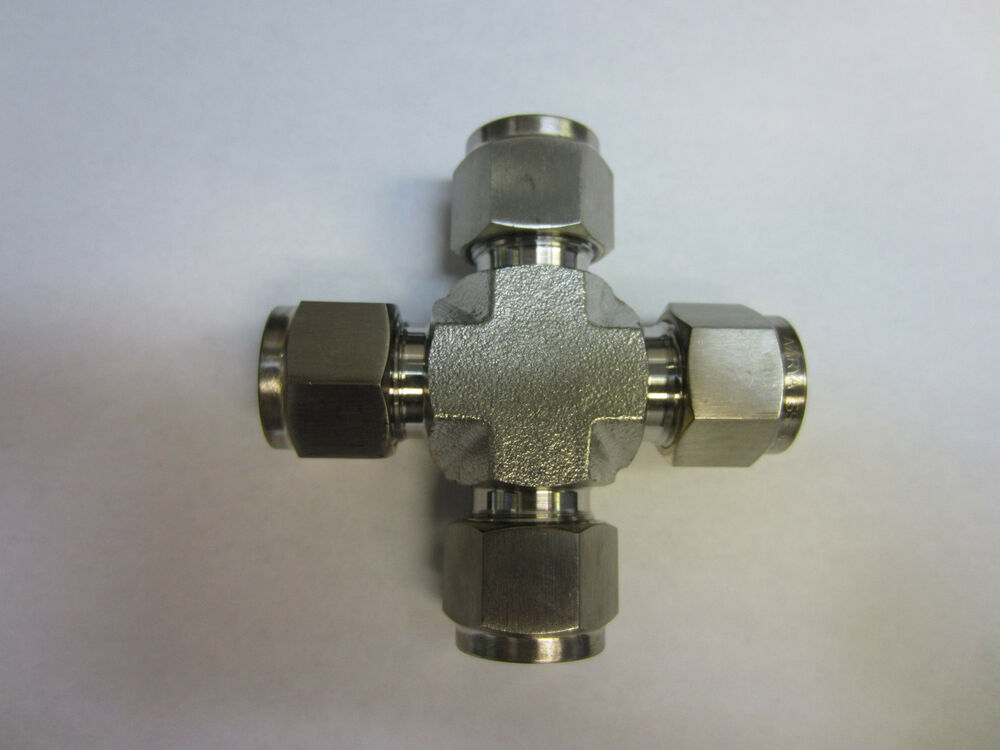 Stainless steel union cross fitting quot tube od