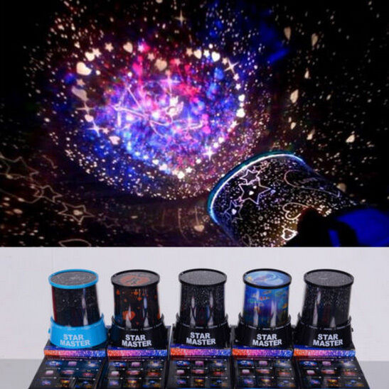 Led Cosmos Star Master Sky Starry Night Projector Light Lamp Romantic Ebay