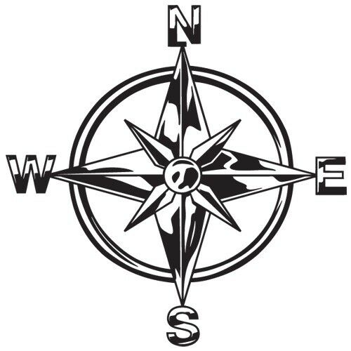 Tribal compass rose nautical star car boat bike window vinyl decal sticker c 1 ebay