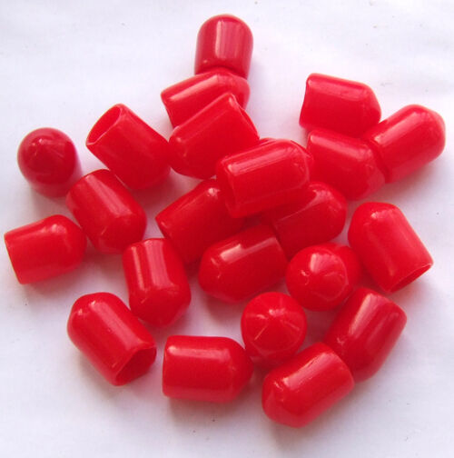 200pcs Plastic Covers Dust Cap Red Protection Cover For Rf