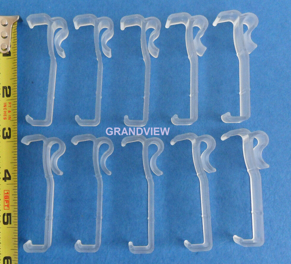 Qty 10 Of 2 1 2 Inch Valance Clips Faux Amp Wood Horizontal