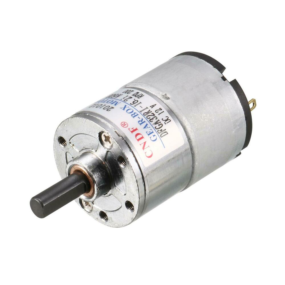 Dc 12v 200rpm high torque speed reduce geared box motor ebay for High torque high speed dc motor