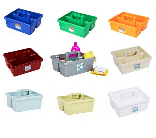 Plastic Cutlery Holder Storage Caddy Tidy Kitchen Cleaning
