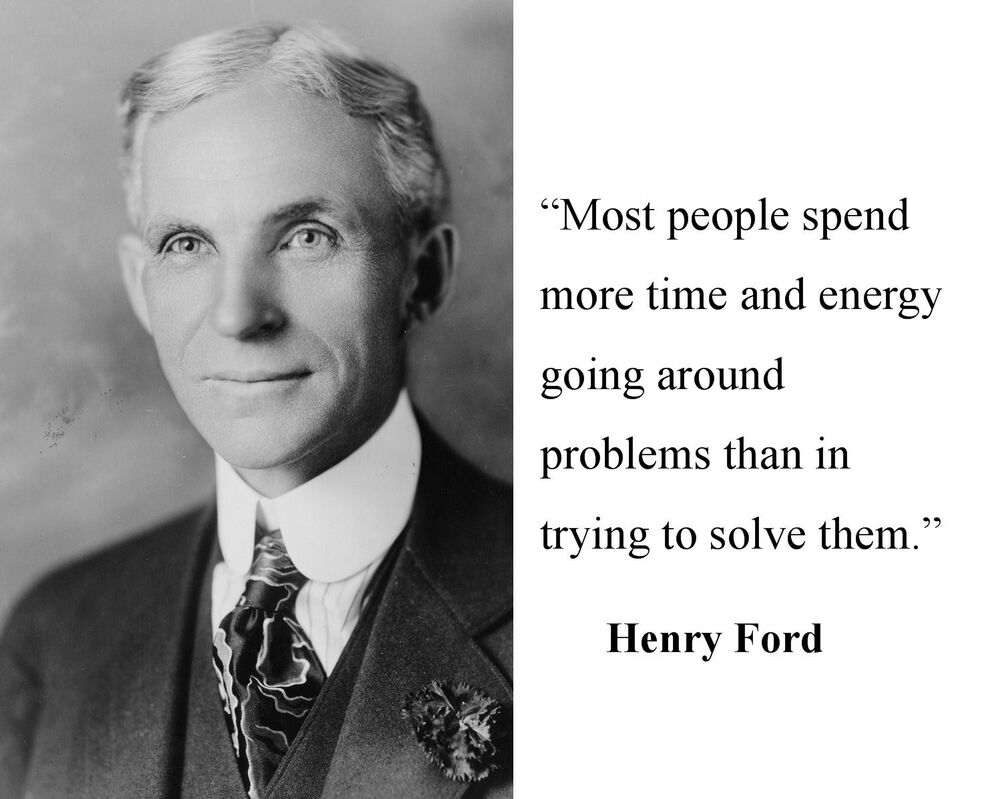 Henry Ford Quot Going Around Quot Famous Quote 8 X 10 Photo