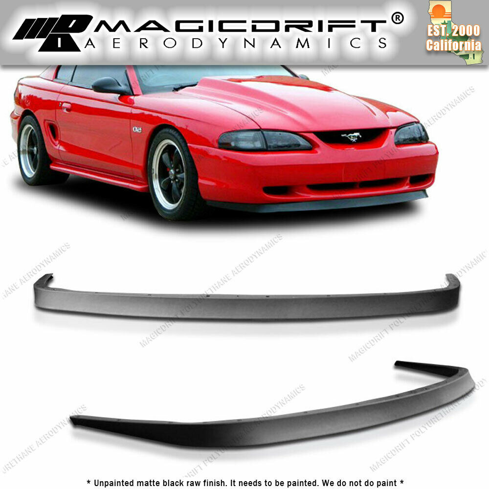 ford mustang 94 98 front bumper lip spoiler body kit chin poly urethane mach 1 812490021690 ebay. Black Bedroom Furniture Sets. Home Design Ideas