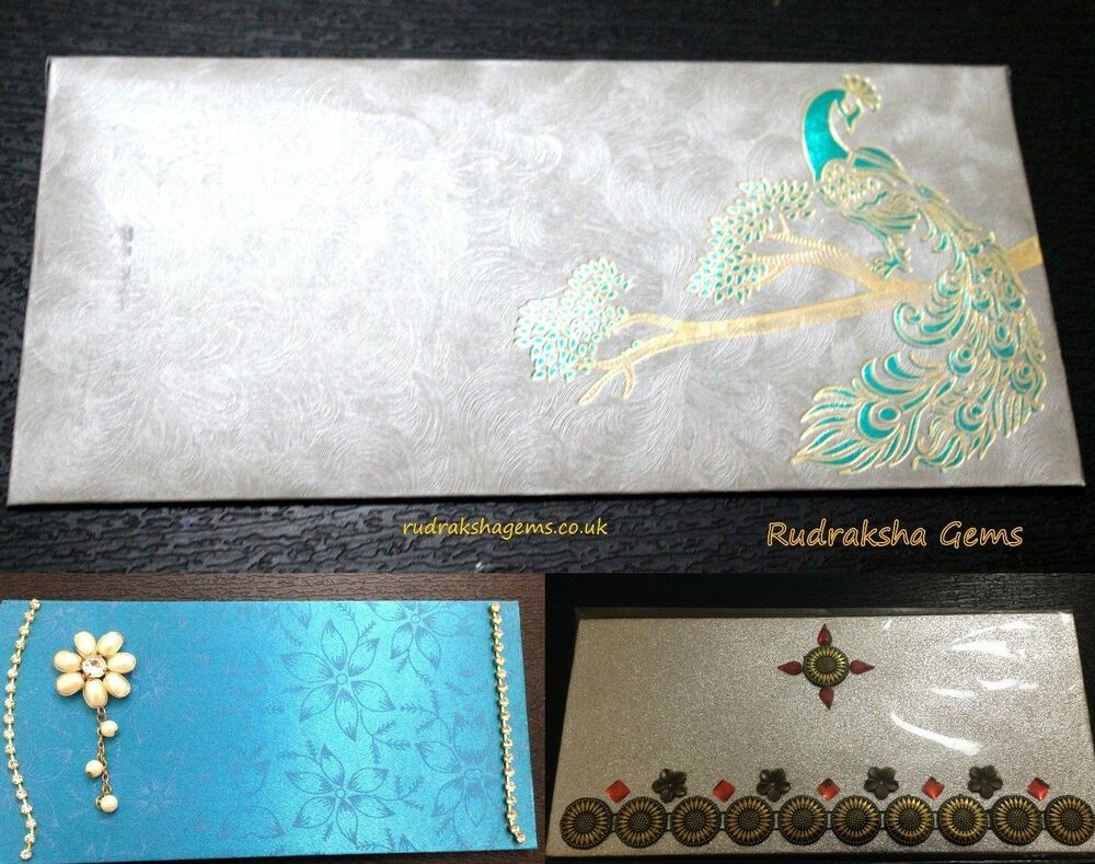 Wedding Gift Envelope India : ... GIFT MONEY ENVELOPES SILVER GOLD INDIAN AUSPICIOUS OCCASIONS WEDDING