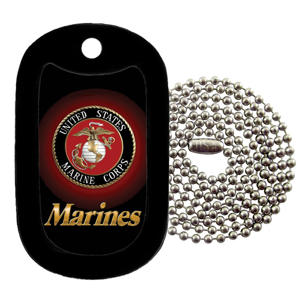Military Dog Tag Necklace - U.S. Marines with a Dog Tag ...
