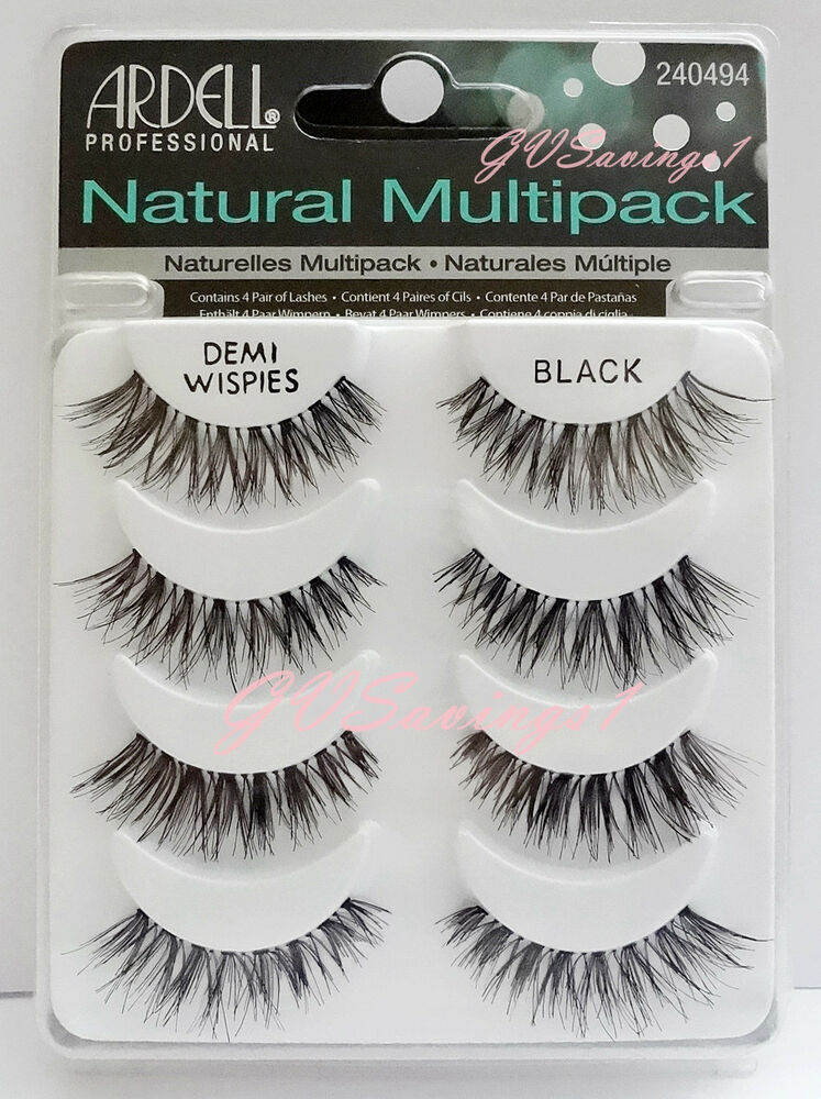 4 Pairs Ardell Demi Wispies Natural Multipack False
