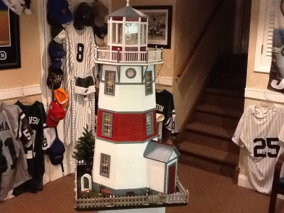 Hand Built Wooden LIGHTHOUSE 1:12 New England STLYE REAL GOOD TOY ...