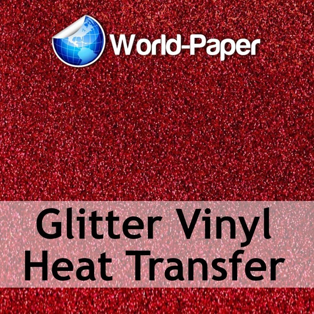 glitter iron on heat transfer vinyl 20 x 12 by the foot red glitter ebay. Black Bedroom Furniture Sets. Home Design Ideas