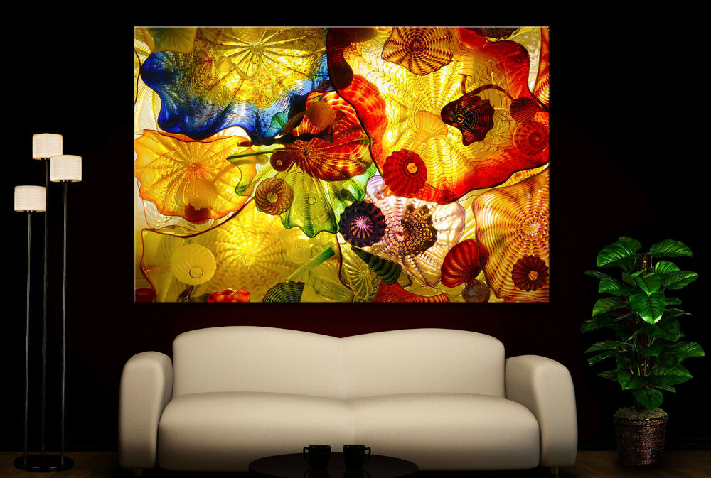 Canvas Giclee Abstract Art Of Glass Home Fine Wall Prints