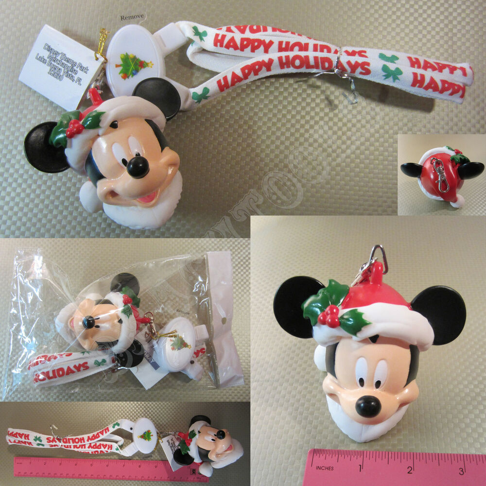 New Disney Parks White Mickey Mouse Christmas Led Light Up