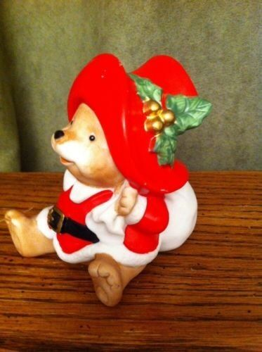 Vintage christmas home interiors homco santa bear figurine Home interiors figurines homco